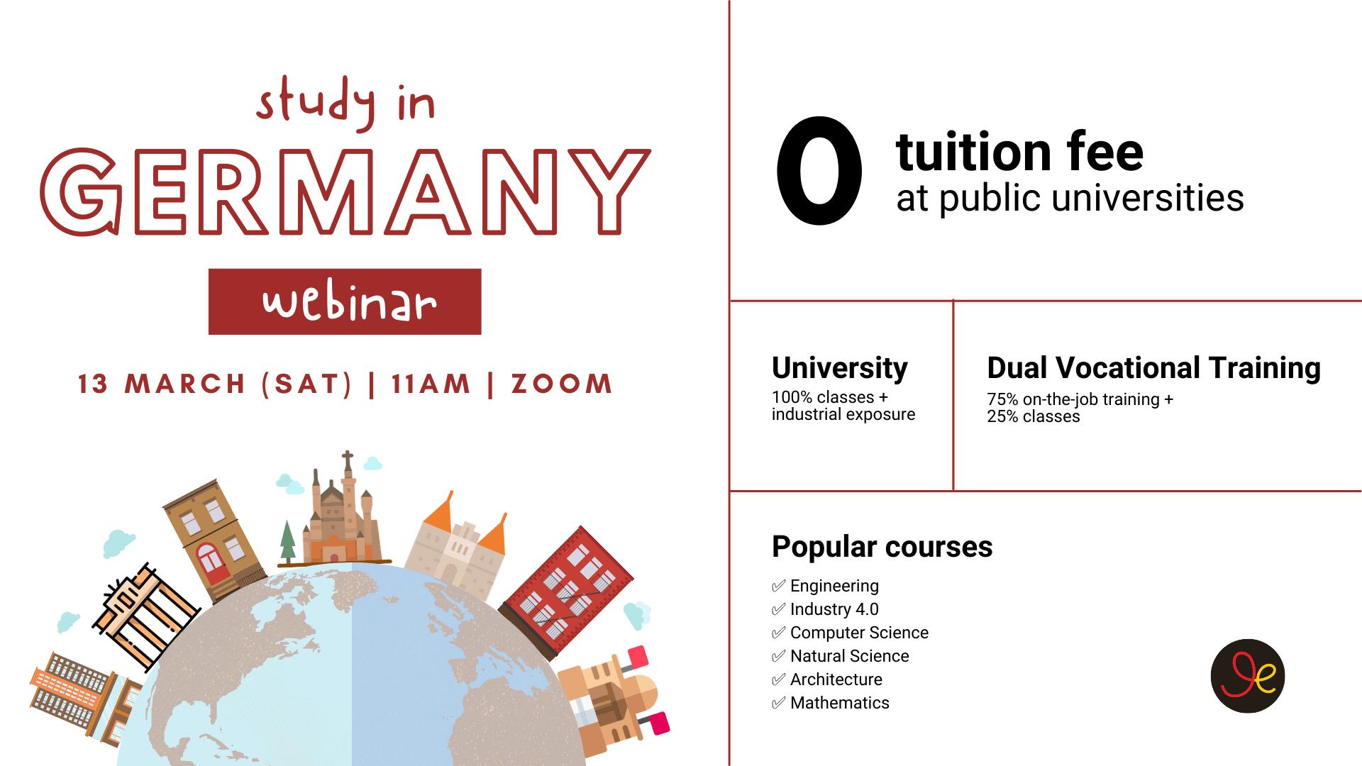 study in Germany webinar